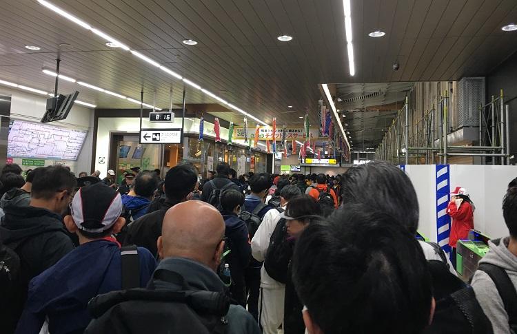 かすみがうらマラソン土浦駅到着時
